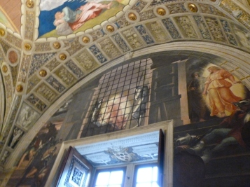 The Liberation of St. Peter, the guards are asleep and the angel just walks Peter right out of the prison.